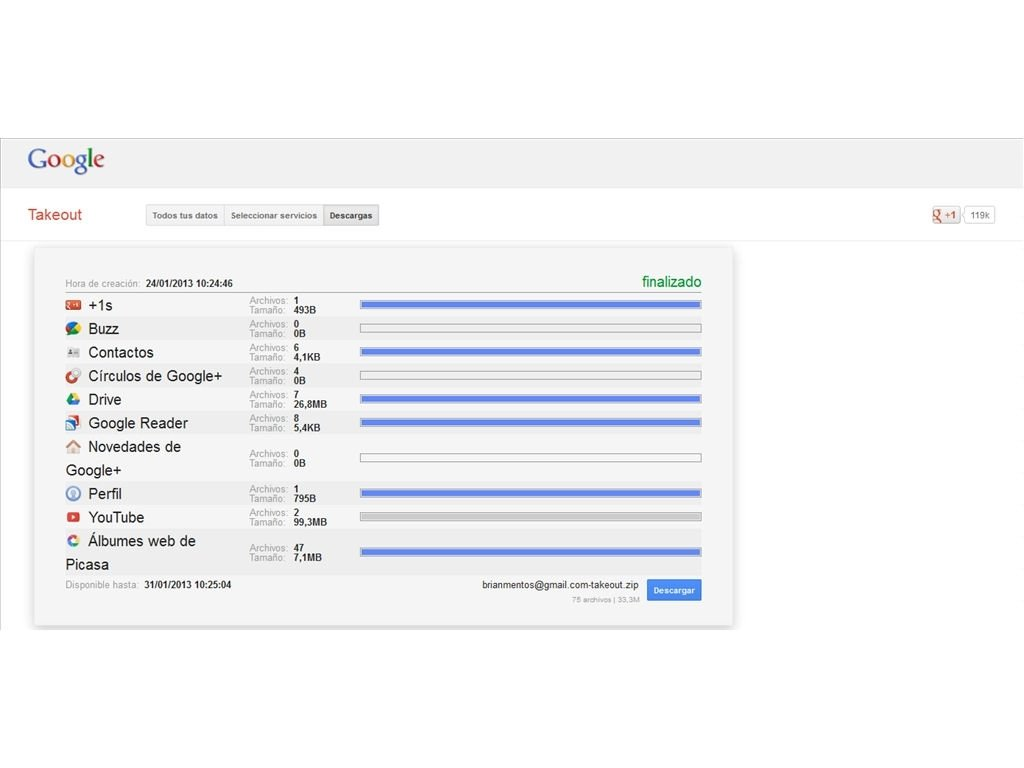 Google Takeout Online (English) - Free