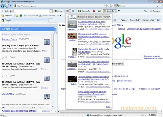 Google Toolbar Internet Explorer 7.5.4413.1752