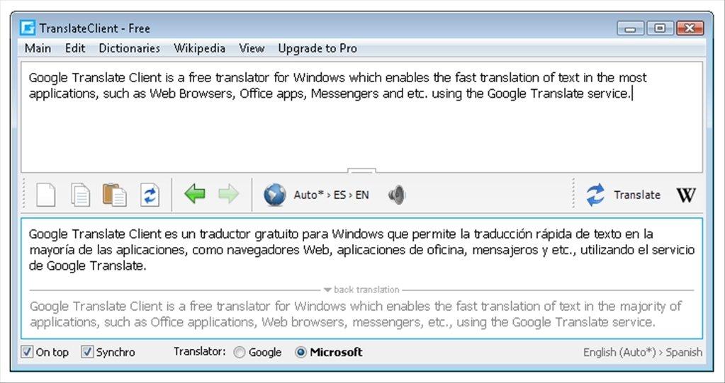 Google Translate Client image 4