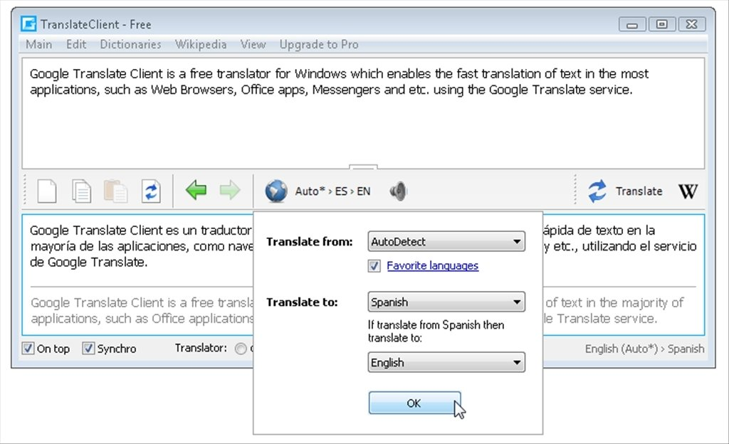 Google Translate Client 6 2 620 - Download for PC Free