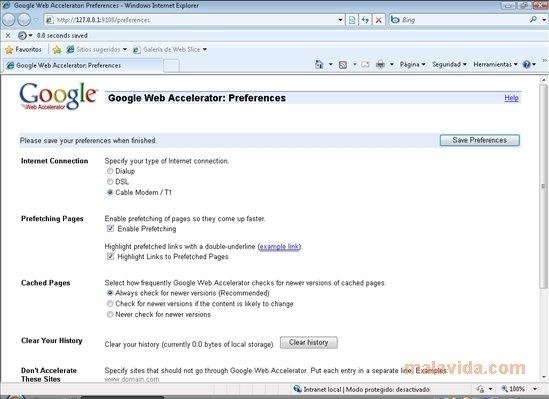 Google Web Accelerator image 3