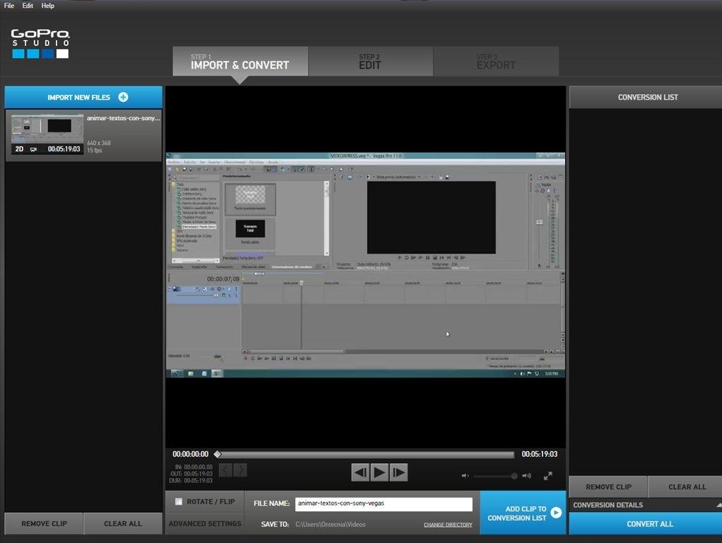 Download GoPro Studio 2.5.4.404 for PC - Free