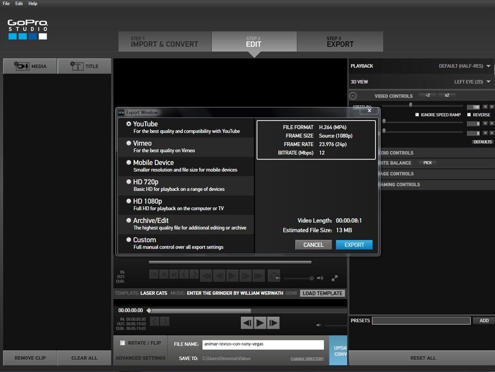 gopro studio 2.5.9