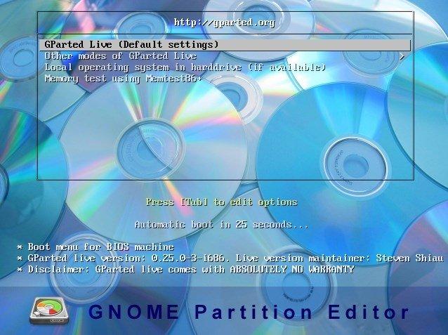 Resultado de imagen para Gnome Partition Editor