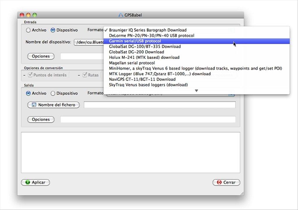 GPSBabel 1 5 4 - Télécharger pour Mac Gratuitement