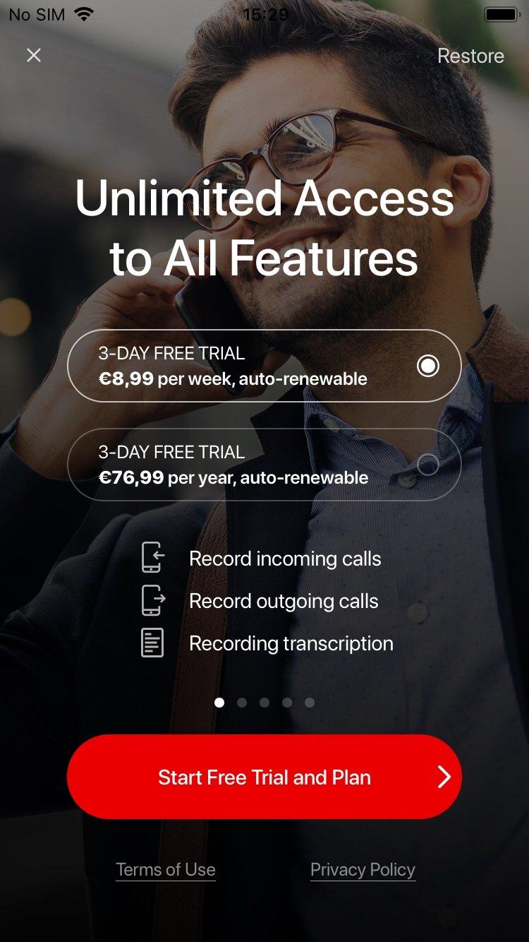 anruf aufnehmen iphone