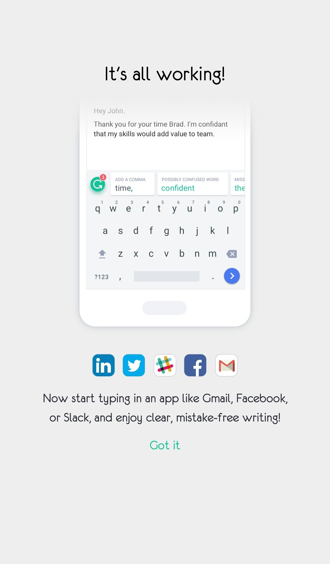 Grammarly Keyboard 1 5 2 0 - Download for Android APK Free