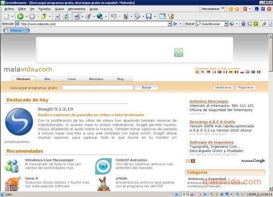 greenbrowser gratuit
