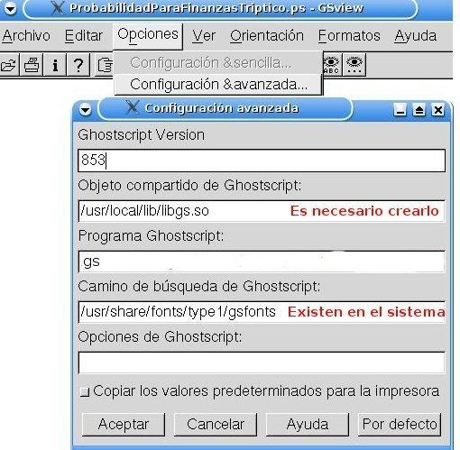 GSview Linux image 2