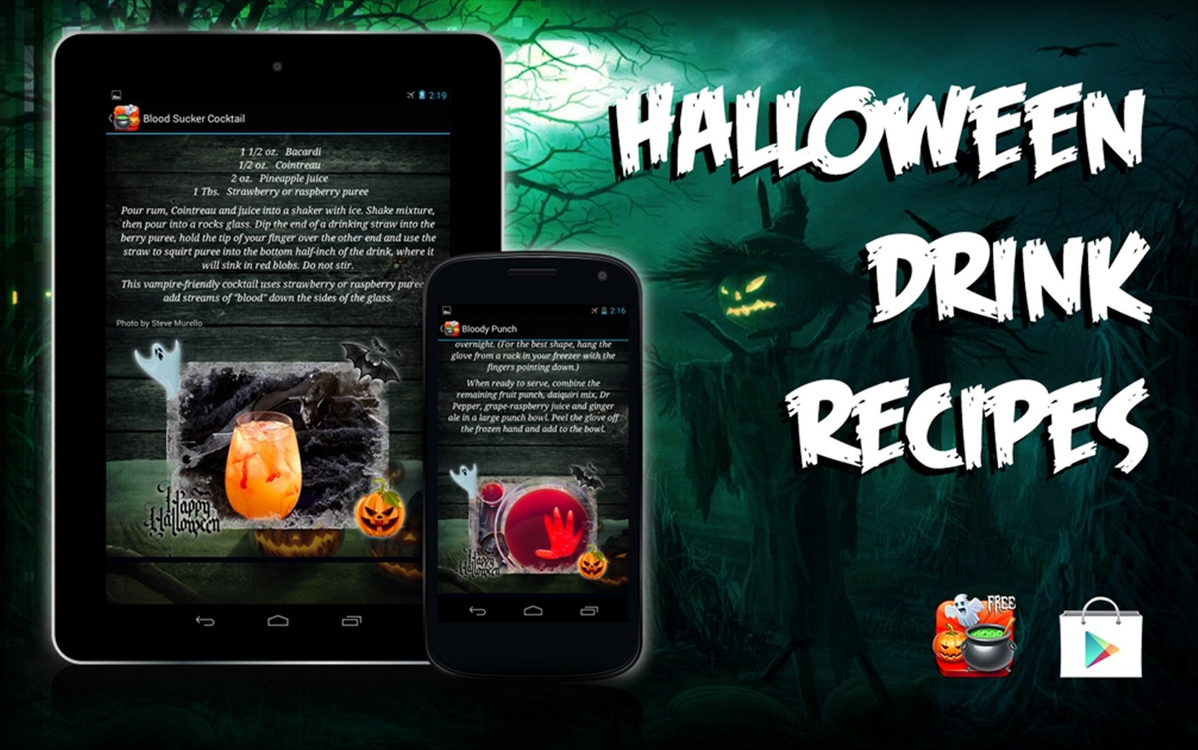 Halloween boire recettes Android image 8