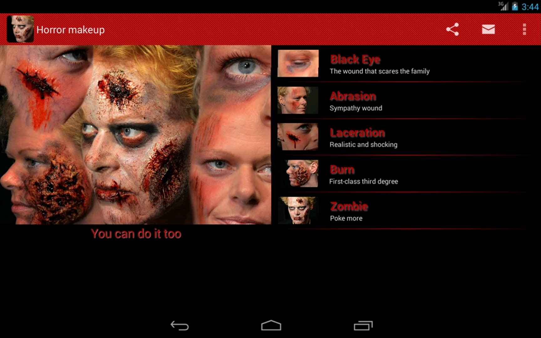 Halloween Horror Makeup Android image 4