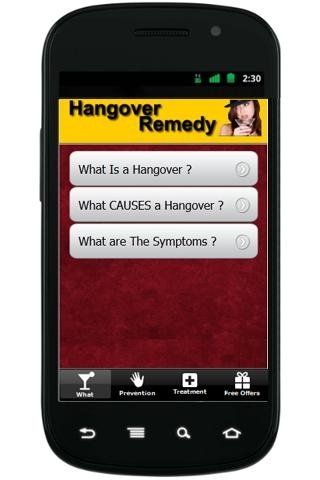 Hangover Remedy Android image 3