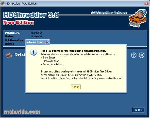 HDShredder image 3
