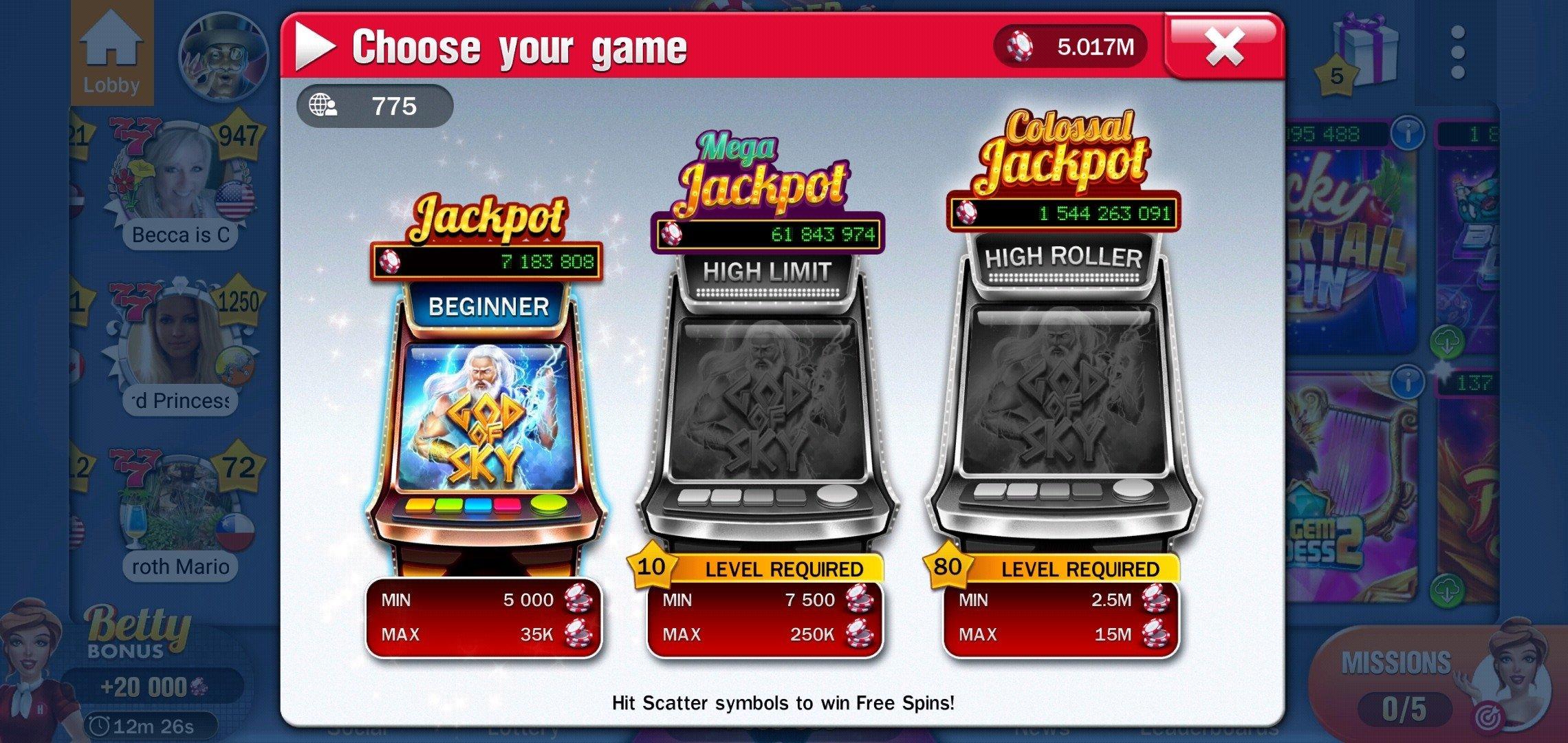 All in slot machine