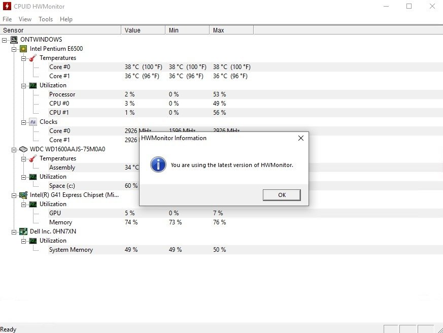 HWMonitor 1 38 - Download for PC Free