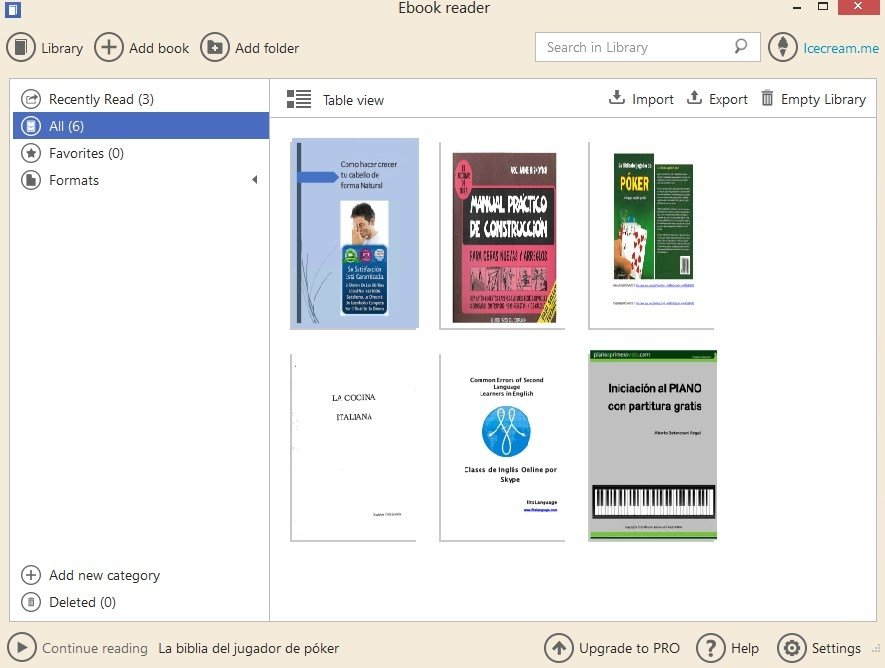 Icecream eBook Reader 5 19 - Download for PC Free