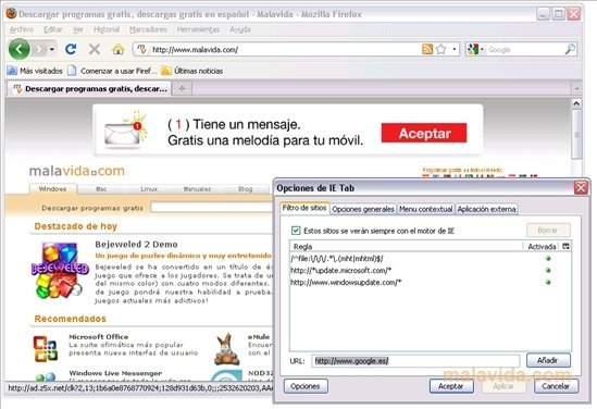 IE Tab 2.0.20120203 for Firefox