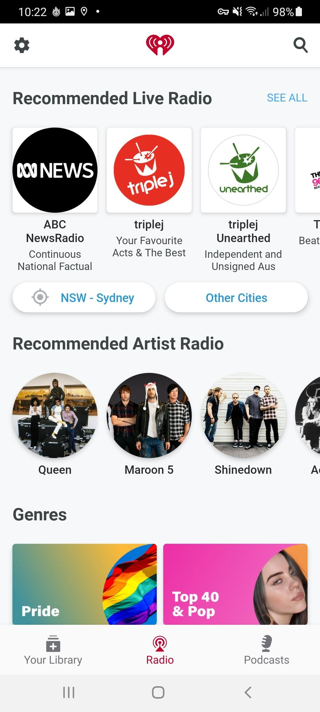 iHeartRadio Android image 5