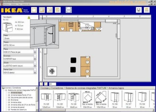 Ikea home planner 2 0 3 download per pc gratis for Planner cucina gratis