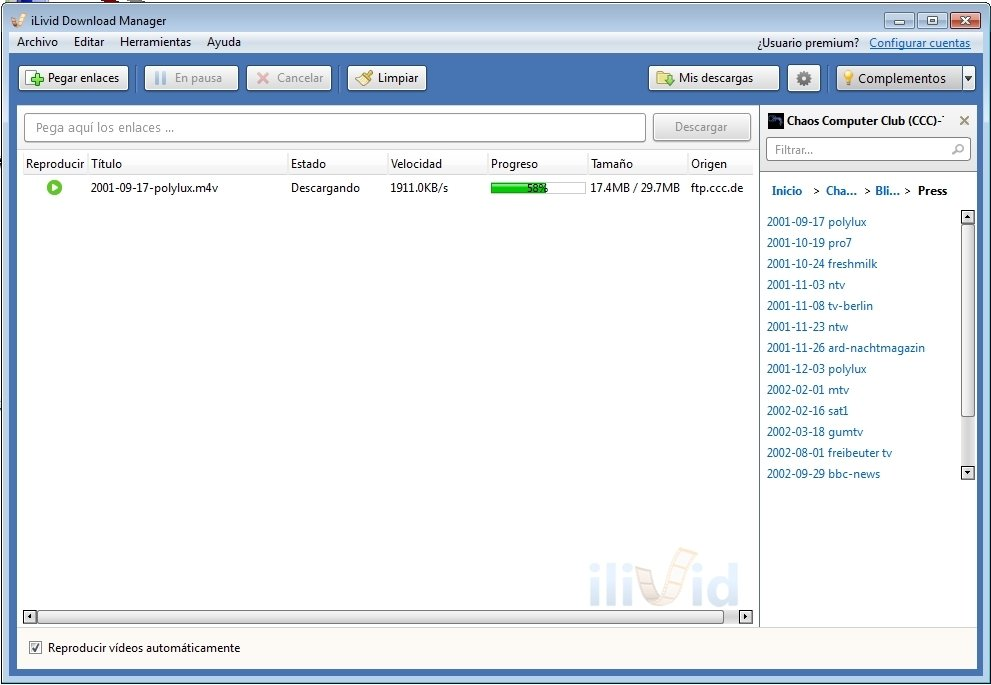 gratuitement ilivid download manager