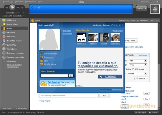imesh 2012 gratuit pour windows 7