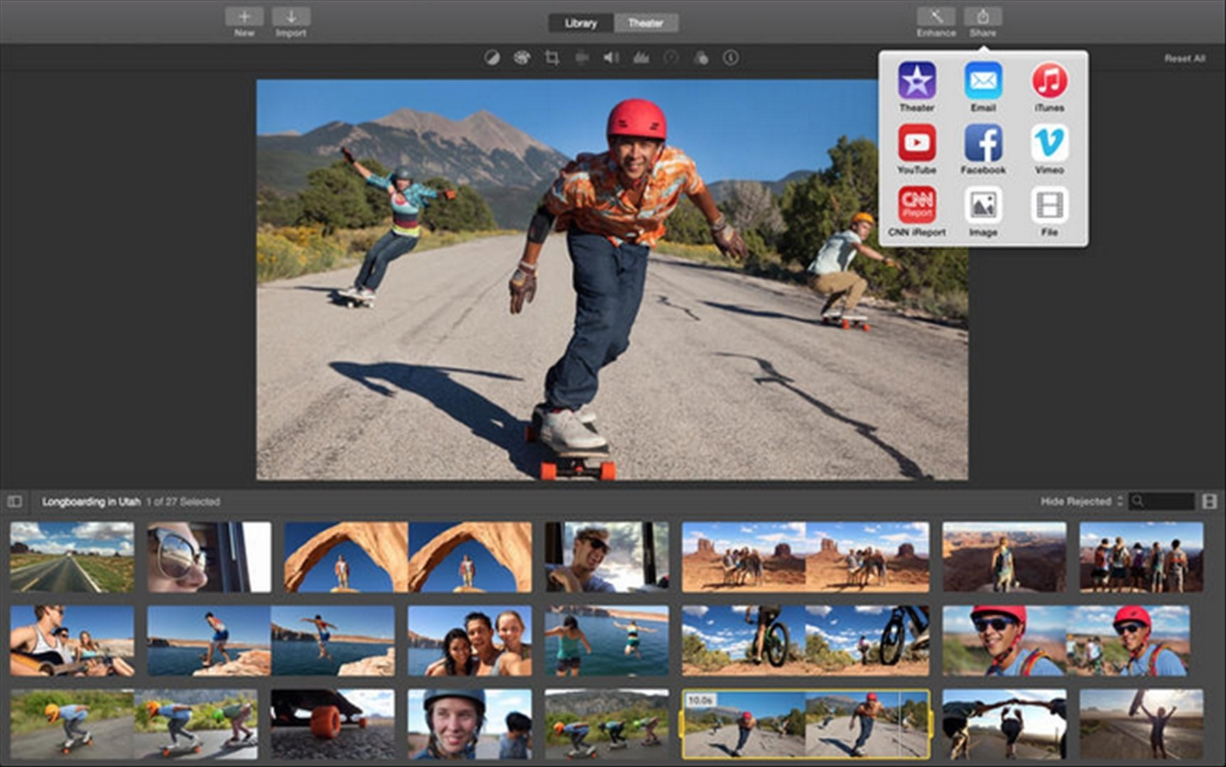 imovie how to choose the thumbnail image
