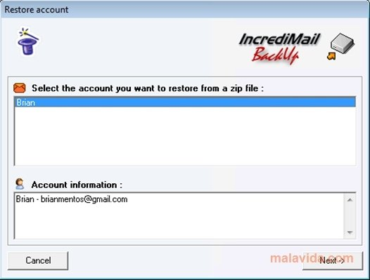 incredimail backup pro 2.7