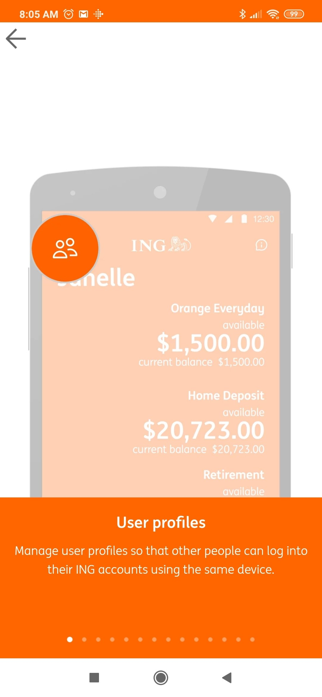 ING Direct Android image 5