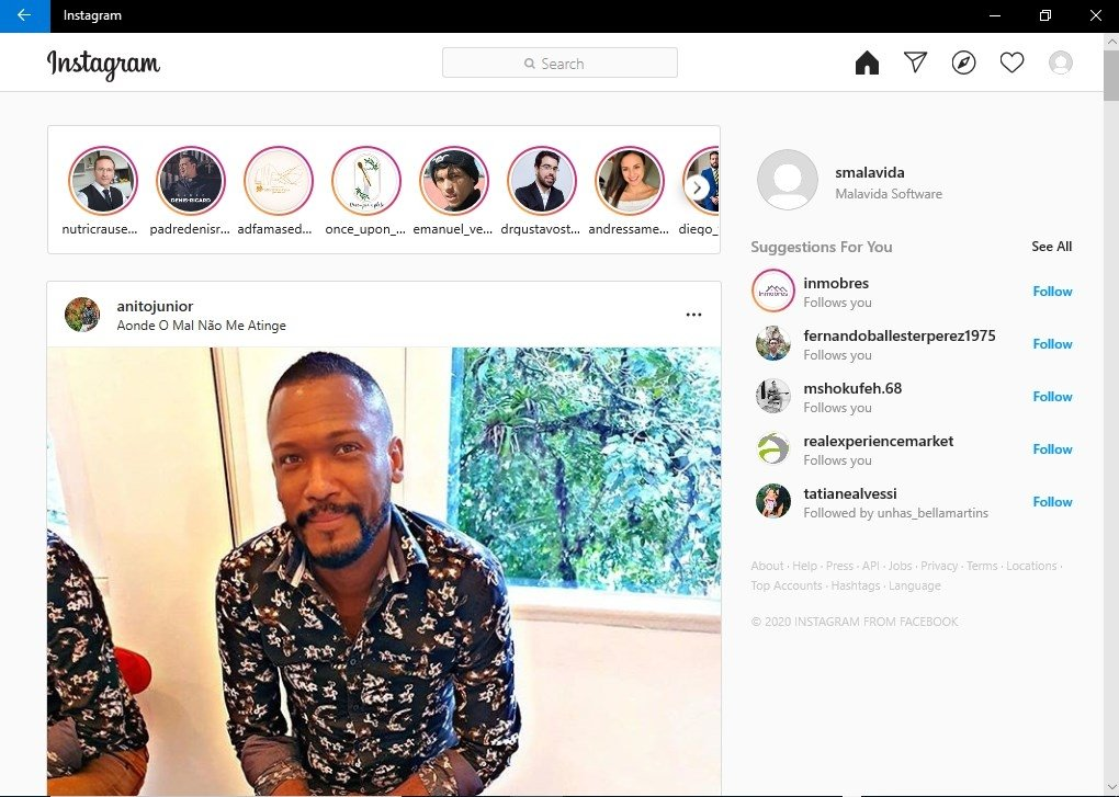 instagram application download for pc