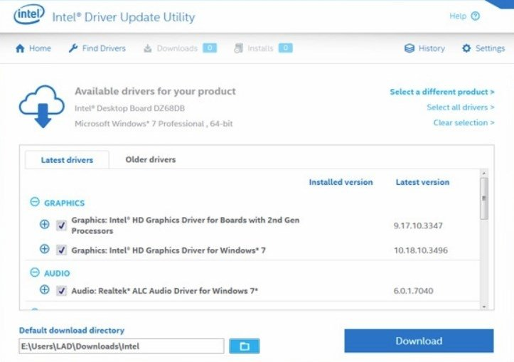 Intel Driver Update 4 5 13 0 - Download for PC Free
