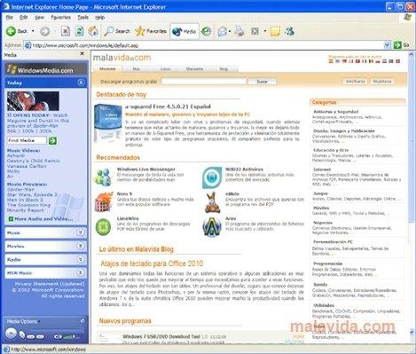 descargar internet explorer 6 gratis en espanol