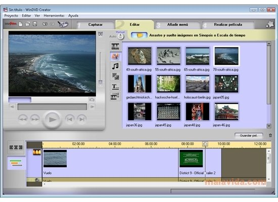 Intervideo windvd creator видеоредактор для windows 7intervideo windvd crea