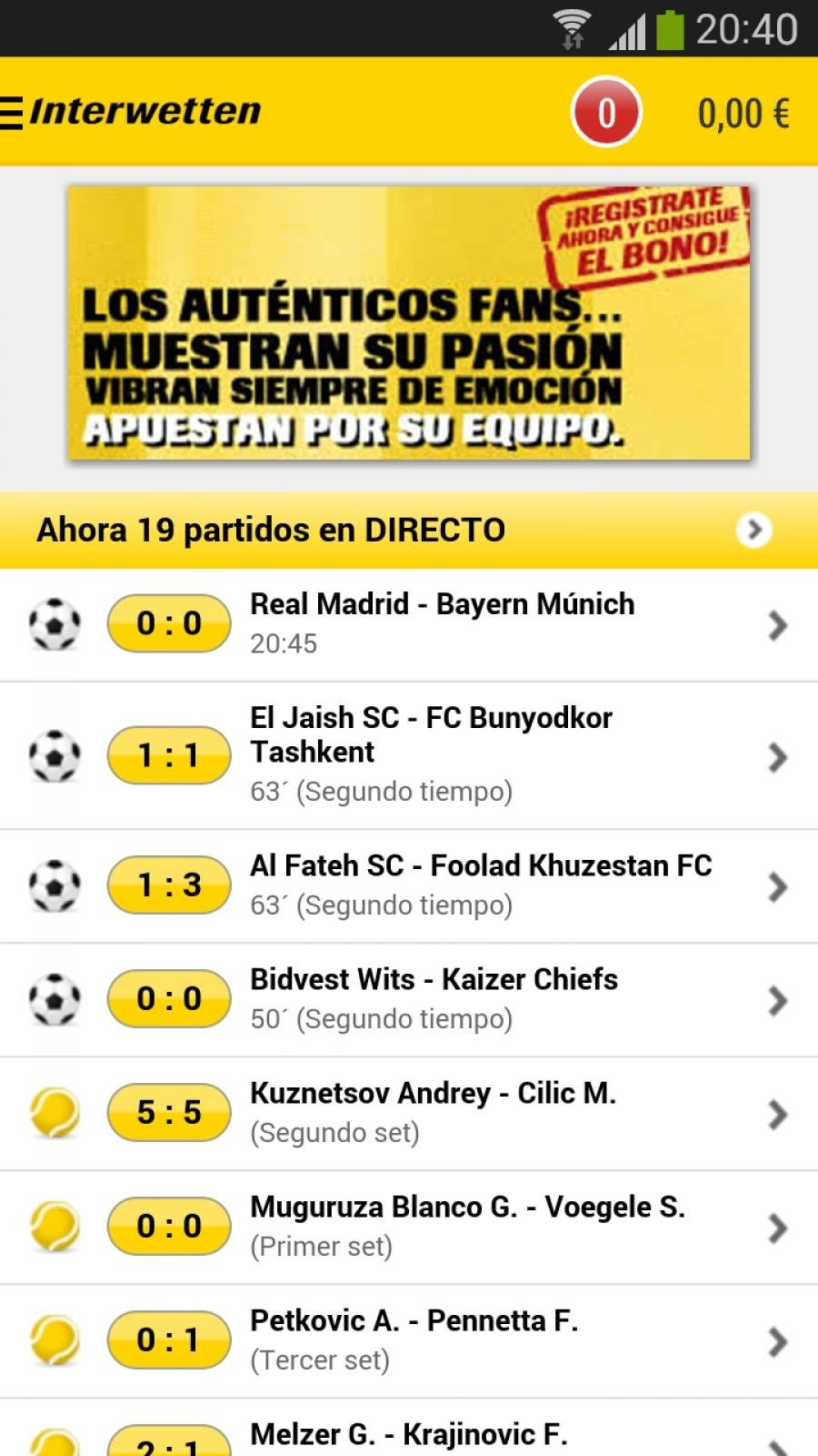 Interwetten Android image 4
