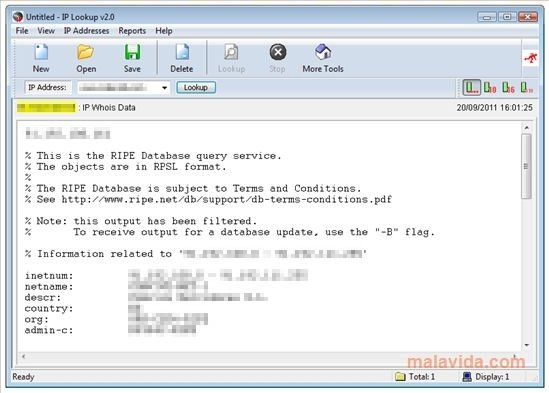 IP Lookup 2 0 092606 - Download for PC Free