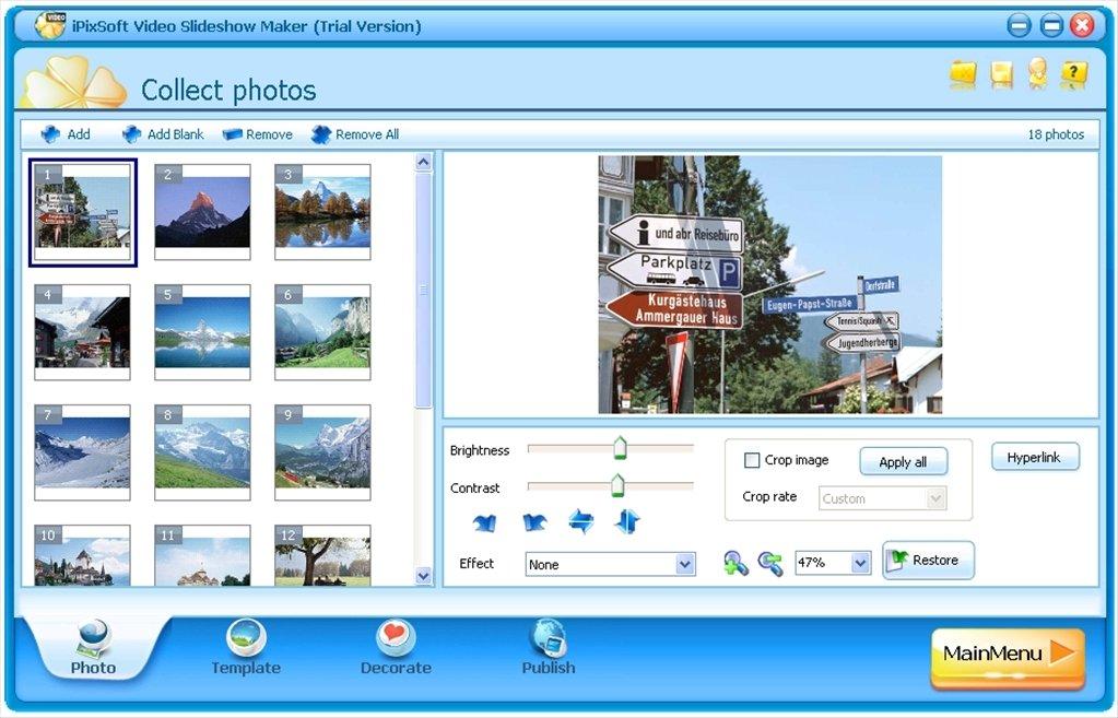 Download Ipixsoft Video Slideshow Maker Free