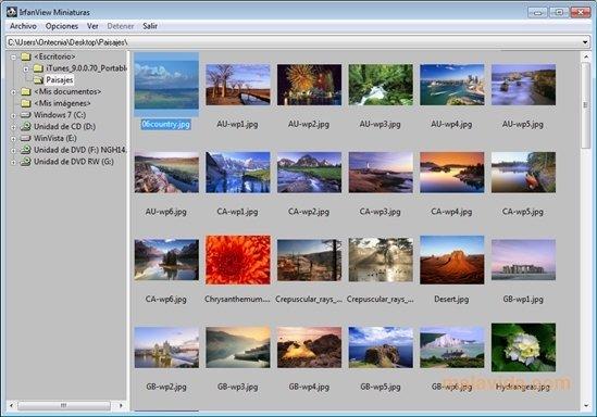 IrfanView 4.41 - Descargar para PC Gratis