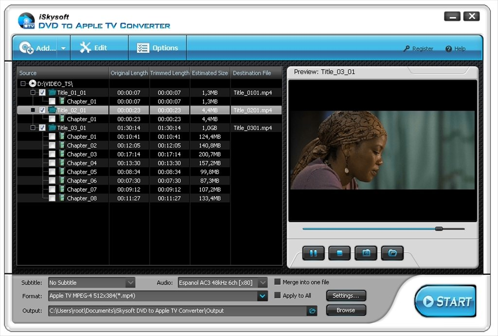iSkysoft DVD to Apple TV Converter image 4
