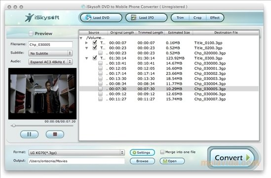 iSkysoft DVD to Mobile Phone Converter Mac image 4