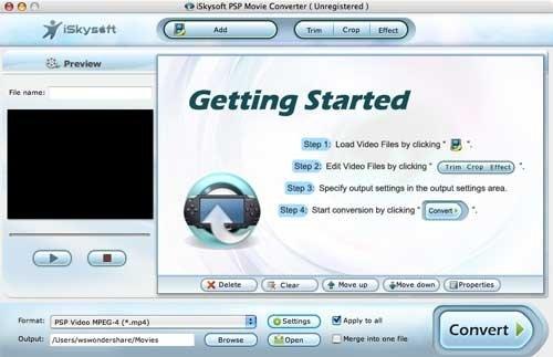 iSkysoft PSP Movie Converter Mac image 3