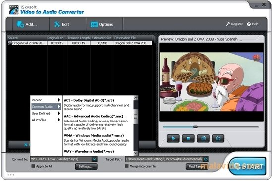 iSkysoft Video to Audio Converter image 4