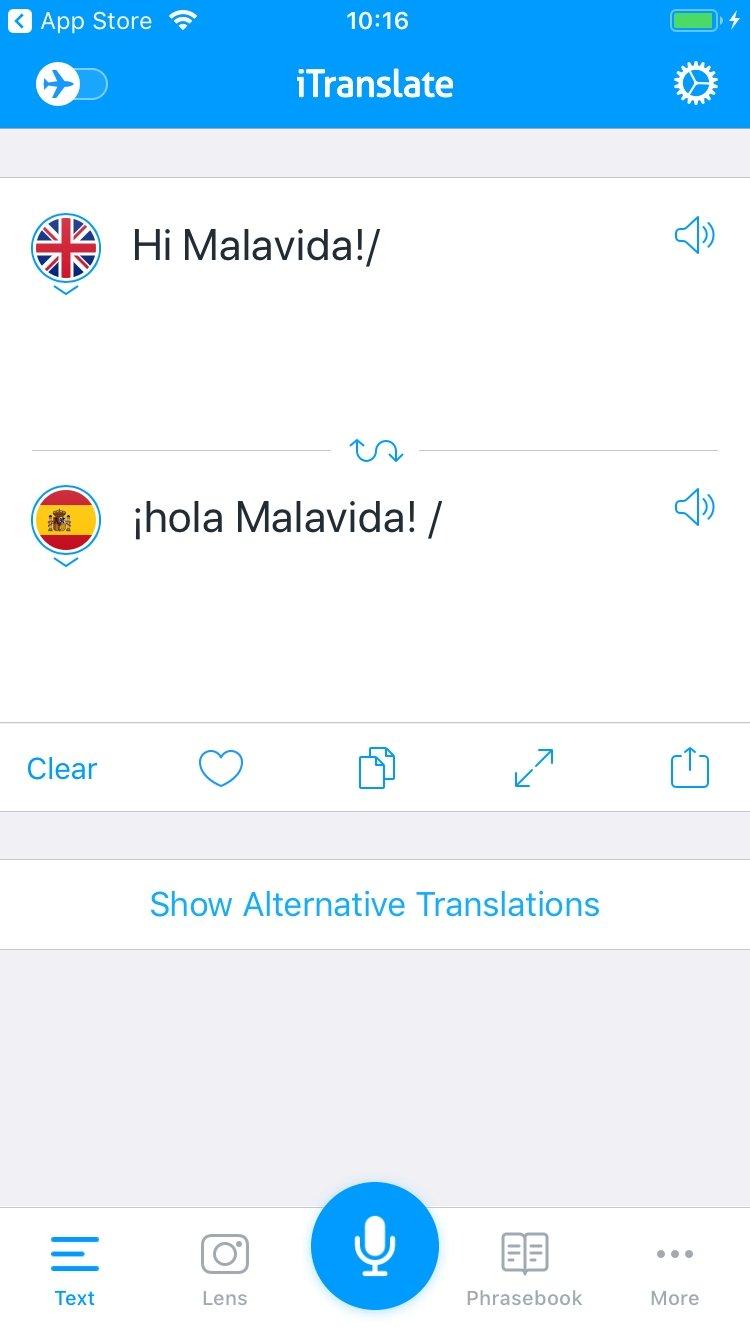 iTranslate iPhone image 5