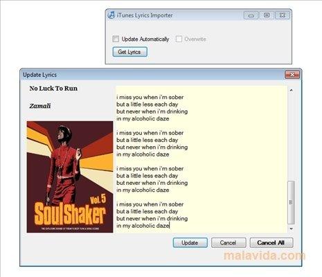 iTunes Lyrics Importer 1 1 - Download for PC Free