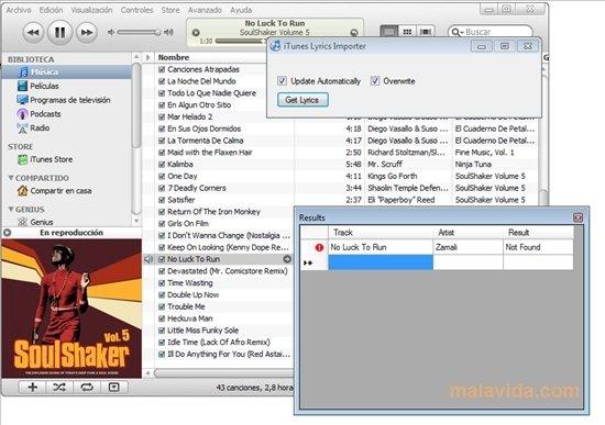 iTunes Lyrics Importer