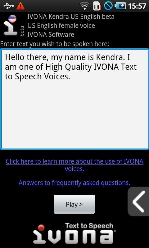 IVONA Text-to-Speech HQ 1 6 55 617 - Download for Android