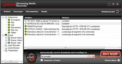 Jaksta Streaming Media Recorder image 4