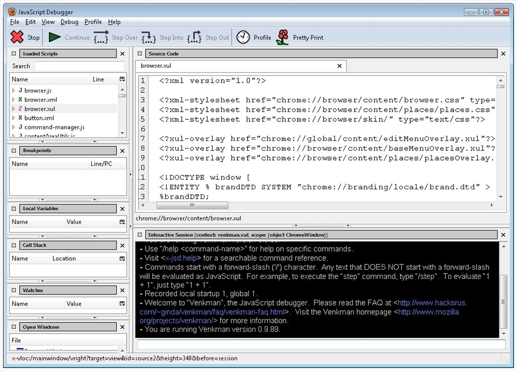 JavaScript Debugger 0 9 89 - Download for PC Free