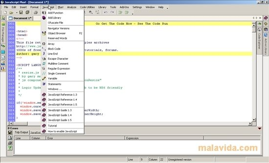 JavaScript Plus! 7.0 - Download for PC Free
