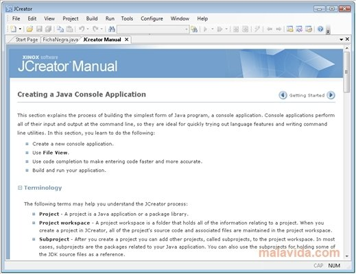 Jcreator software free download.