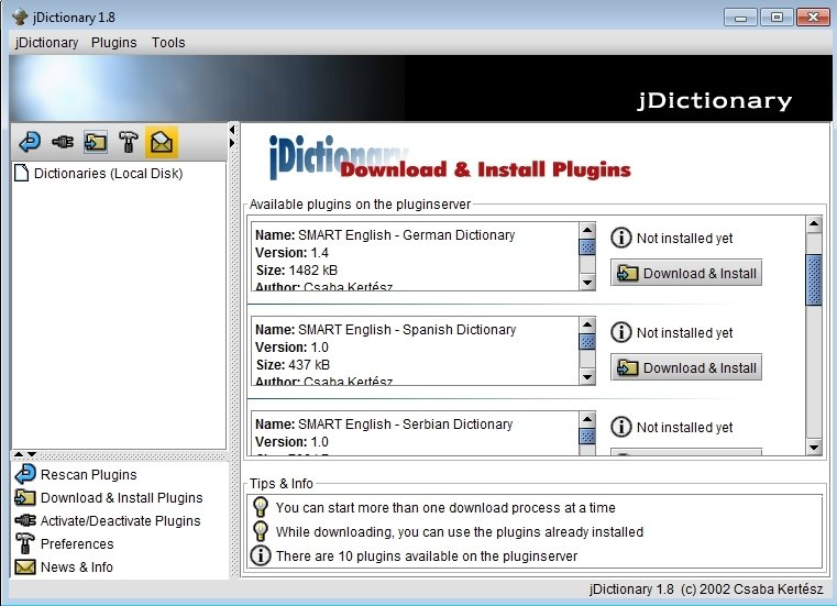 jDictionary 1 8 - Download for PC Free