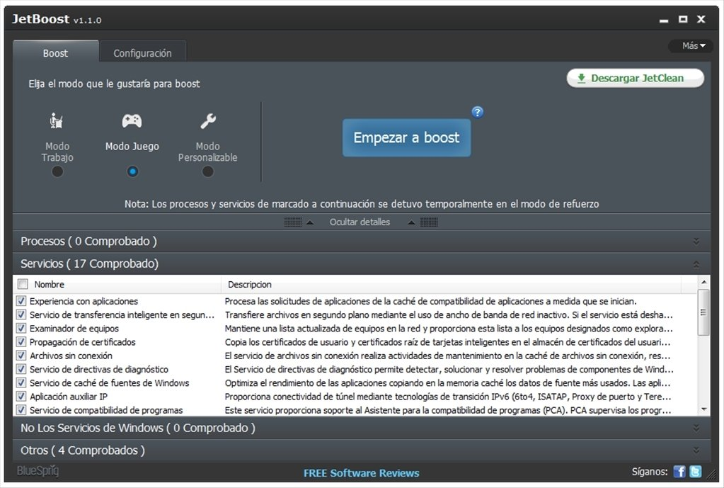 JetBoost 2.0.0 - Download for PC Free